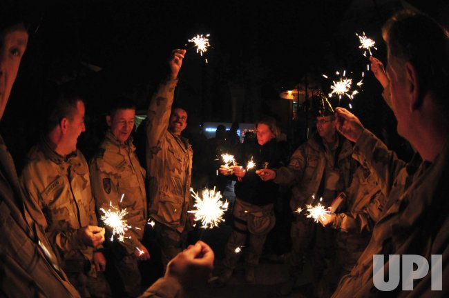 U.S. Soldiers celebrates New Years in Afghanistan