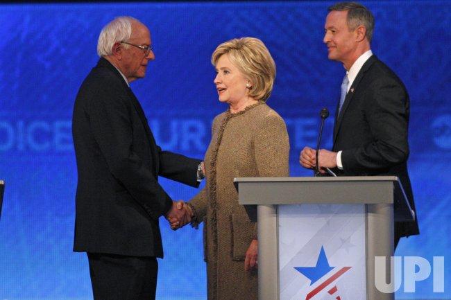 Sanders, Clinton, O'Malley at Democratic Presidential Debate in New Hampshire