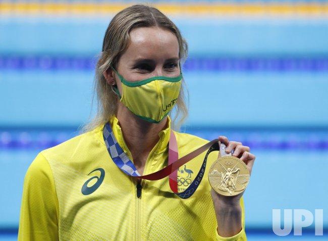 Australia's McKeon celebrates Olympic record and Gold ...