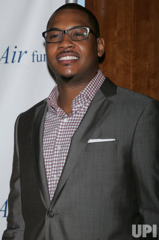 "Carmelo Anthony arrives for the Fresh Air Fund ""Salute to American Heroes"" in New York"