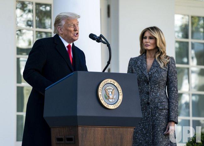 President Trump Pardons the National Thanksgiving Turkey in Washington, DC