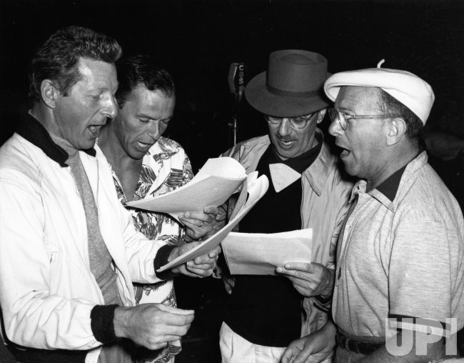 Danny Kaye, Frank Sinatra, Groucho Marx, and George Burns