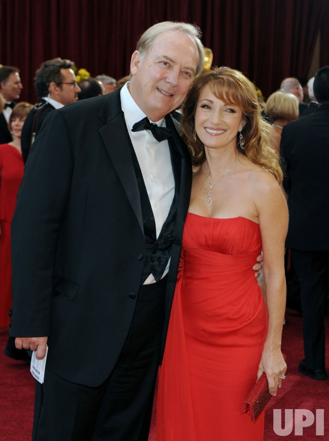 Actors Stacey Keach and Jane Seymour arrive at the Academy Awards in Hollywood
