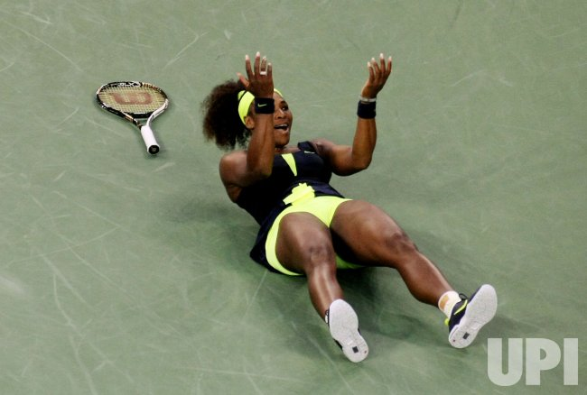 Serena Williams wins the women's finals match after defeating Victoria Azarenka in at the U.S. Open in New York
