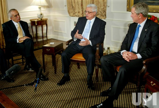 PRESIDENT BUSH MEETS WITH PALESTINE'S PRESIDENT ABBAS IN NEW YORK