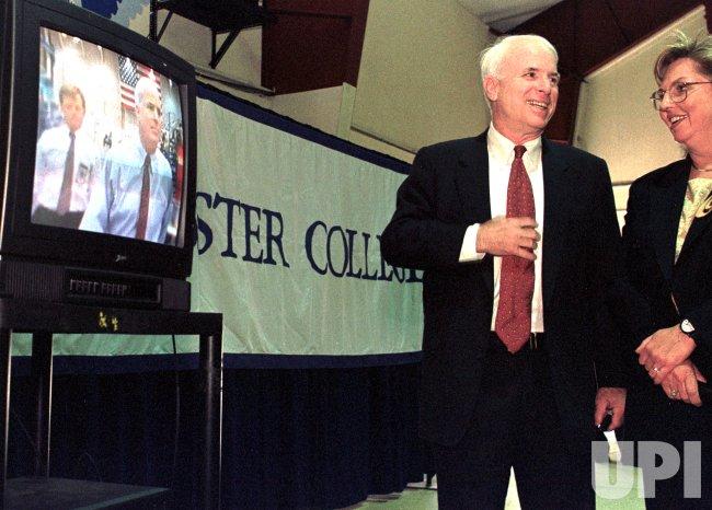 Republican presidential candidate U.S. Senator John McCain of Arizona