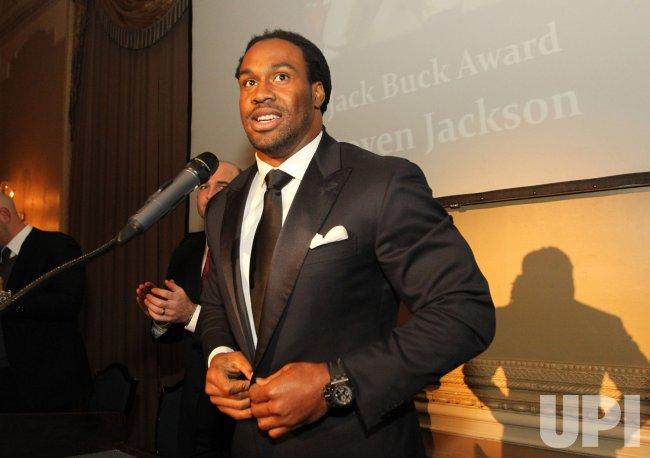 St. Louis Rams Steven Jackson wins Jack Buck Award in St. Louis