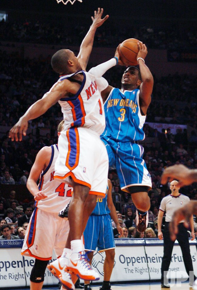 New Orleans Hornets vs New York Knicks in New York