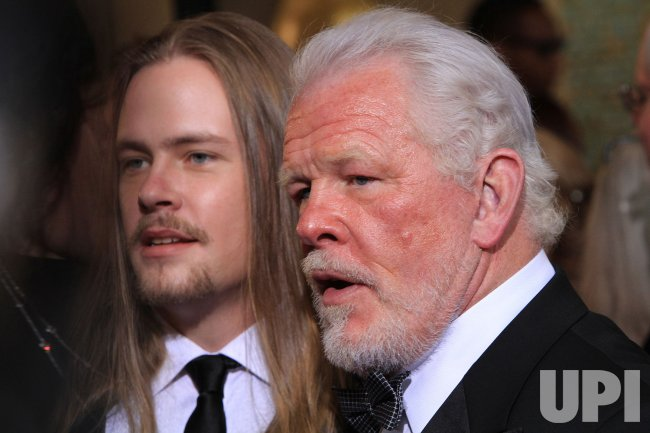 Nick Nolte and his son arrive for the 84th annual Academy Awards at the Hollywood and Highlands Center in Los Angeles