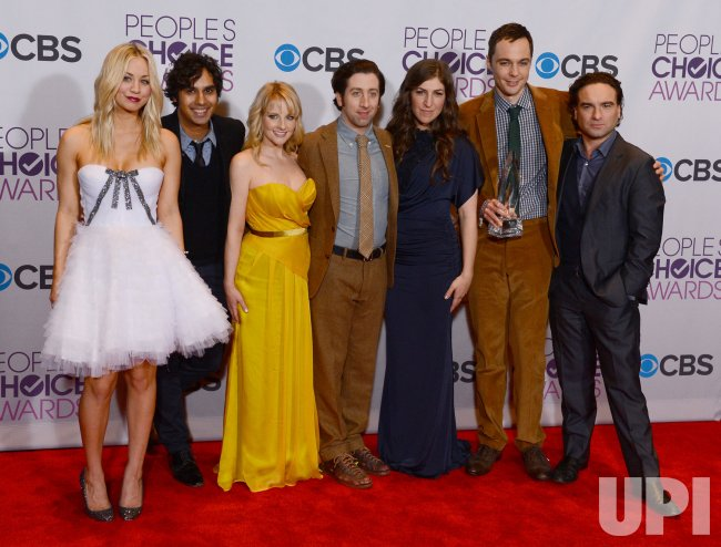 """The Big Bang Theory"" wins Favorite TV Comedy award at the 39th annual People's Choice Awards in Los Angeles"