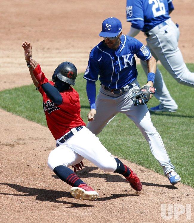 Kansas City Royals vs Cleveland Indians Game in Cleveland