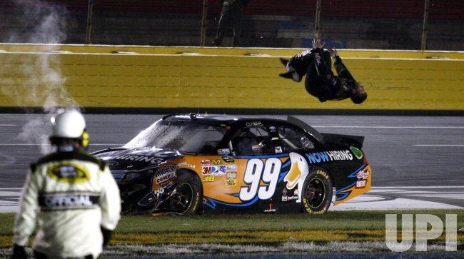 Carl Edwards wins the NASCAR Sprint Cup All-Star Race at the Charlotte Motor Speedway in Concord, North Carolina