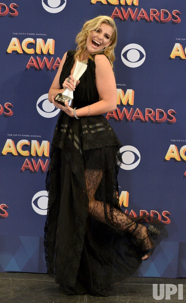 Lauren Alaina wins New Female Vocalist of the Year award at the 53rd annual Academy of Country Music Awards in Las Vegas