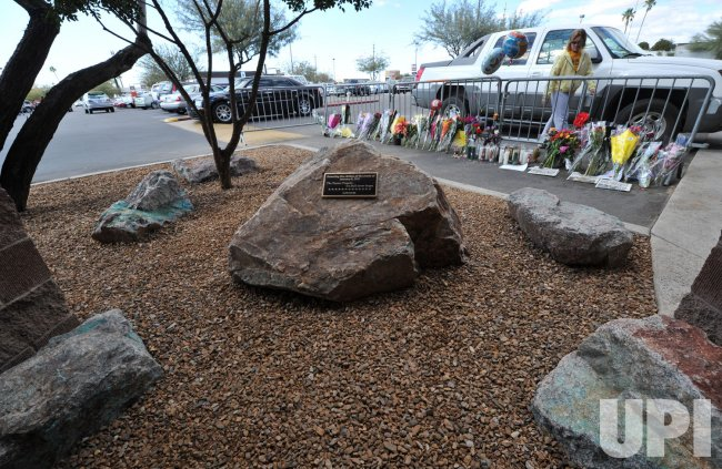 Memorial honors the dead and survivors on the anniversary of the shootings in Tucson, Arizona.