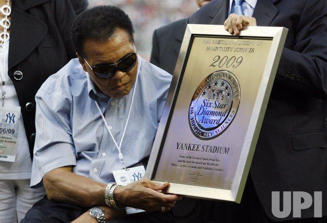 Muhammad Ali at Yankee Stadium in New York