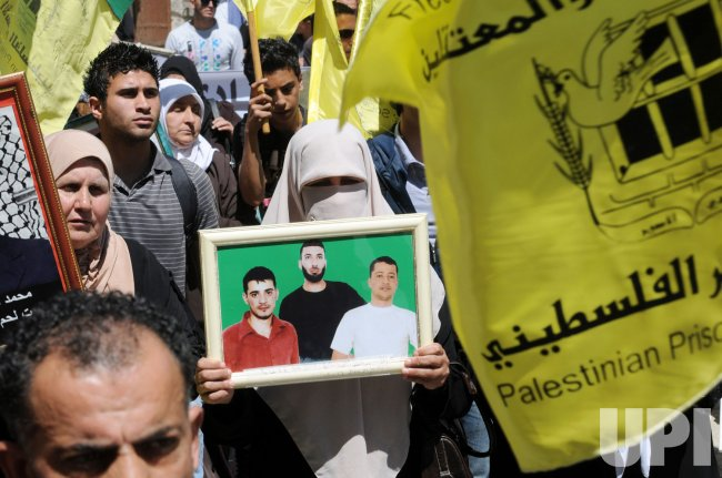 Palestinians Protest On Prisoners' Day In Bethlehem