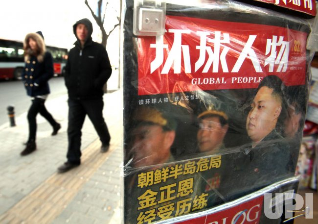 Magazine featuring story on North Korea goes on sale in Beijing