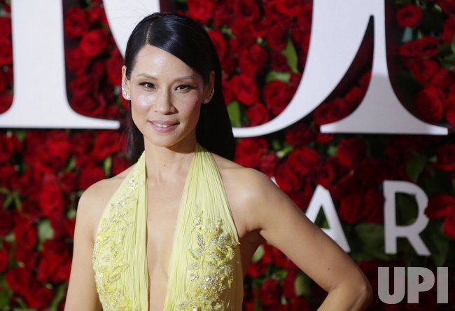 Lucy Liu at the 70th Annual Tony Awards