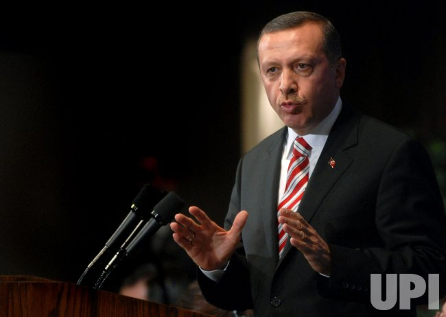 Turkish PM Erdogan speaks in Washington