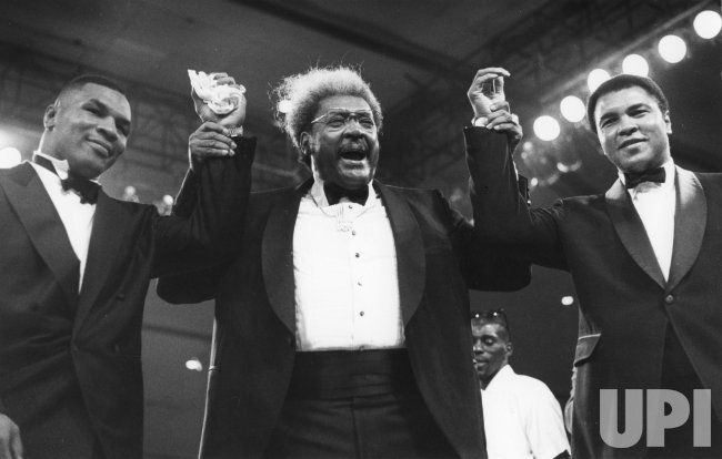 Don King, Mike Tyson and Muhammed Ali in tuxedos