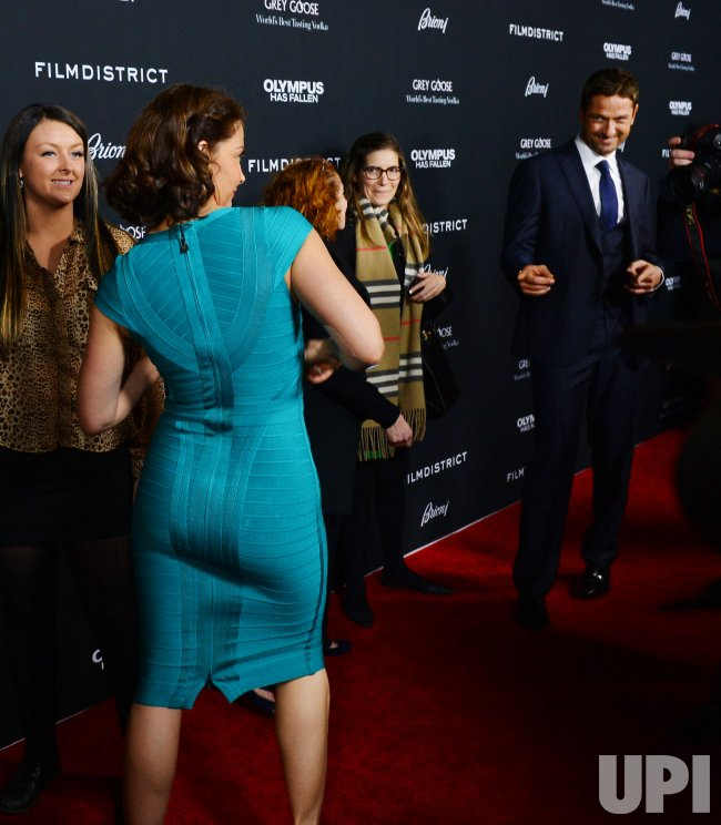"Ashley Judd and Gerard Butler attend the ""Olympus Has Fallen"" premiere in Los Angeles"