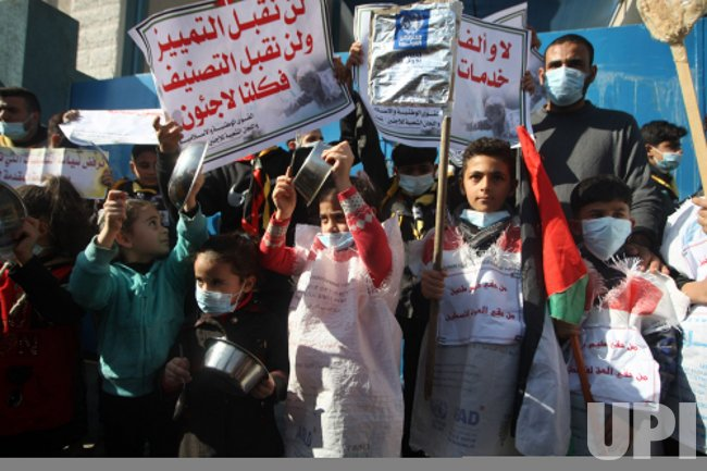 Palestinian Refugees Protest Cuts by the (UNRWA) in Gaza