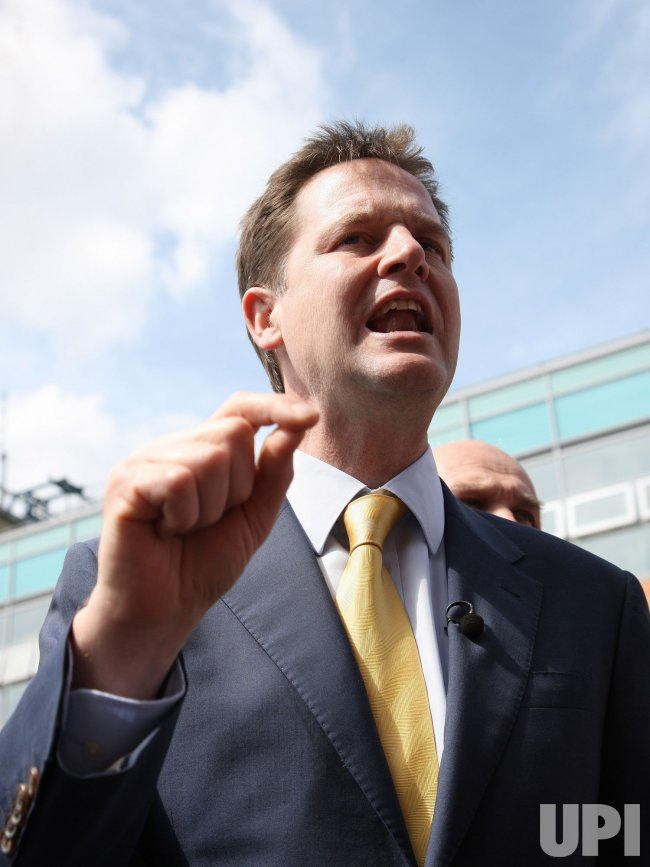 Liberal Democrat Leader Nick Clegg campaigns in Southampton