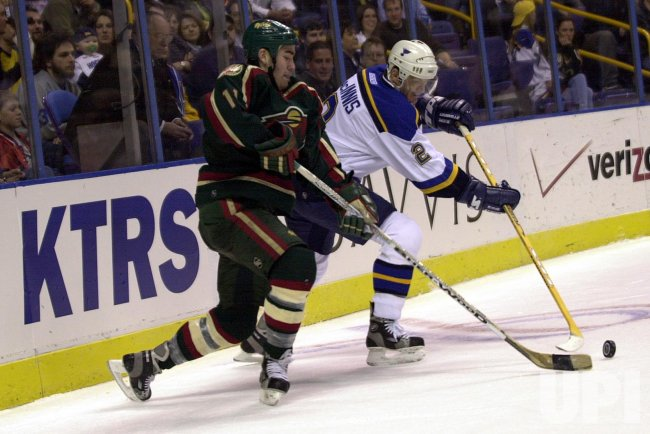 St. Louis Blues vs Minnesota Wild NHL hockey