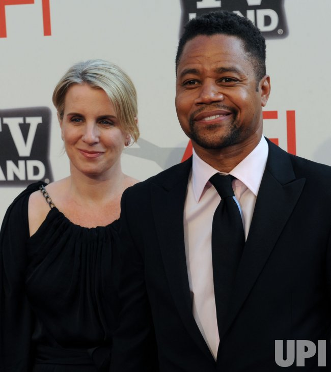 Cuba Gooding Jr. and Sara Kapfer arrive for AFI taping honoring Morgan Freeman in Culver City, California........
