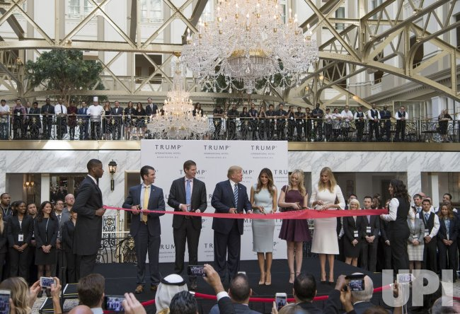 Donald Trump opens the Trump International Hotel in Washington, D.C.