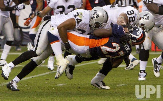 Raiders Mitchell and Seymour Dump Broncos Moreno in Denver