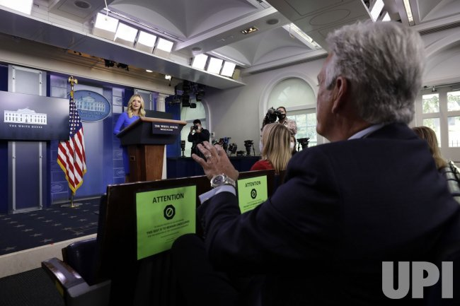 Press Secretary Kayleigh McEnany Hosts Briefing at White House