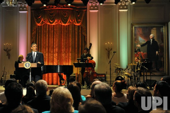 President Obama speaks at the White House music series concert saluting Broadway in Washington