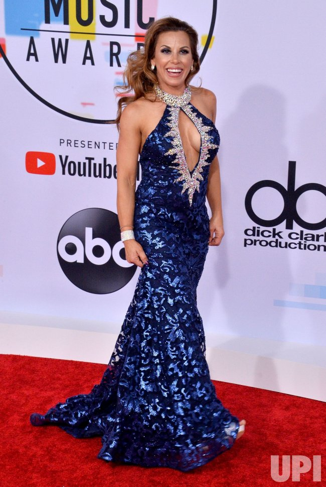 Mickie James attends 46th annual American Music Awards in Los Angeles