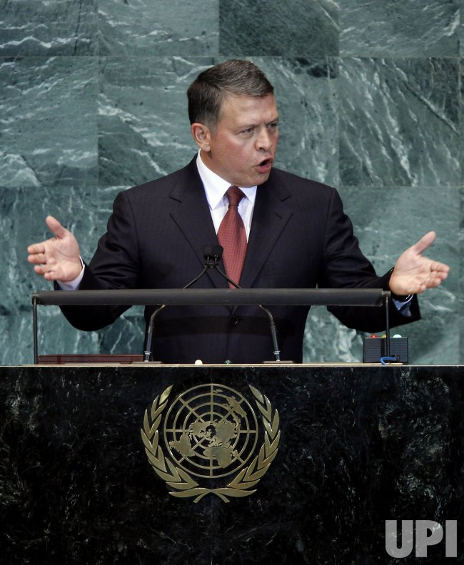 King Abdullah II Bin Al Hussein at the 65th United Nations General Assembly at the UN in New York
