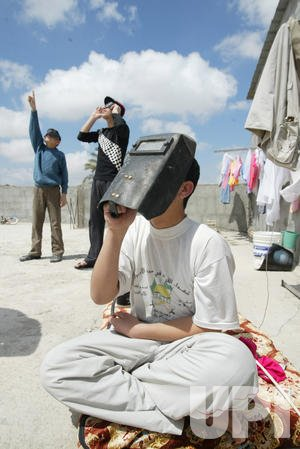 THE SOLAR ECLIPSE IN GAZA