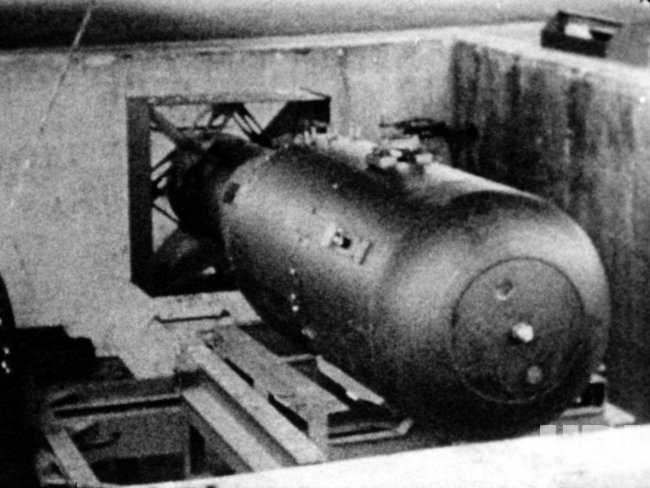 """LITTLE BOY"" THE ATOMIC BOMB WHICH WAS DROPPED ON HIROSHIMA"
