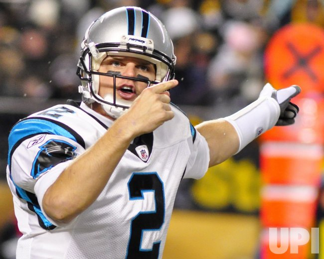 Carolina Panther quarterback Jimmy Clausen Calls Time-Out in Pittsburgh