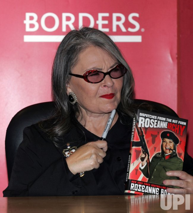 "Roseanne Barr signs copies of her book ""Roseannearchy"" in New York"