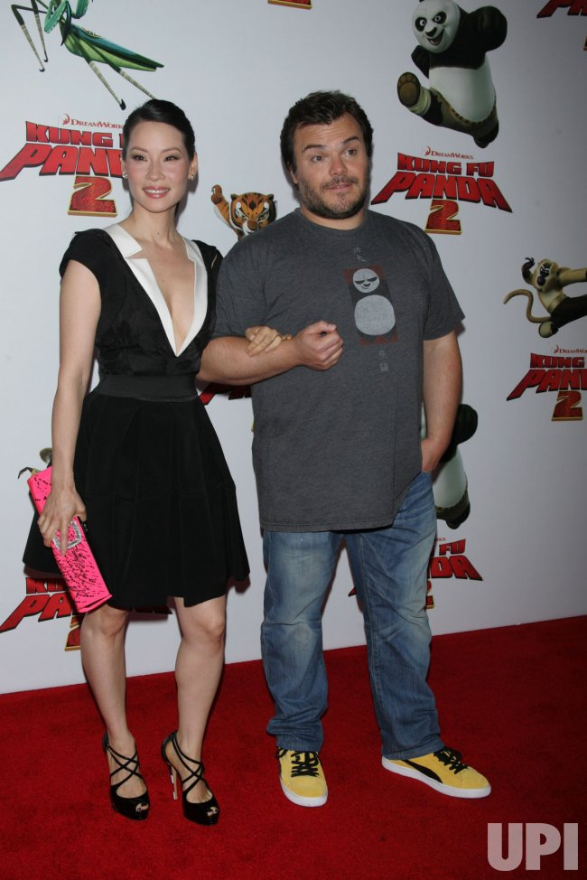 "Lucy Liu and Jack Black arrive for the ""Kung Fu Panda 2"" Premiere in New York"