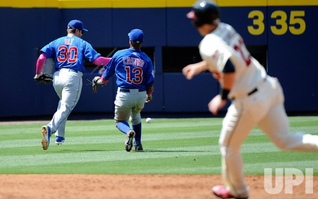 The Atlanta Braves play the Chicago Cubs