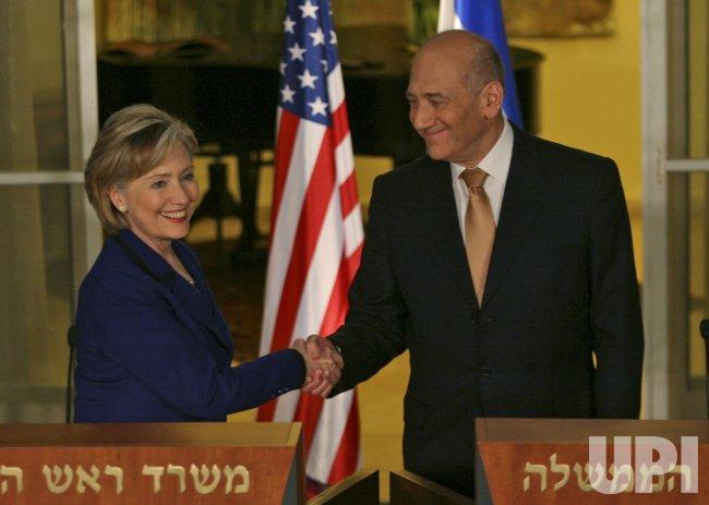 U.S. Secretary of State Clinton visits Israel