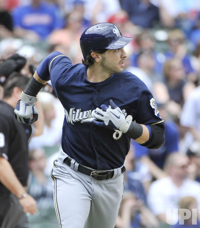 Brewers Braun homers against Cubs in Chicago