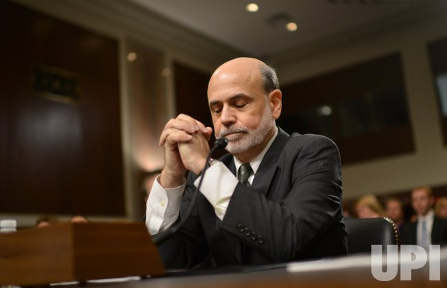 Federal Reserve Board Chairman Ben Bernanke testifies in Washington