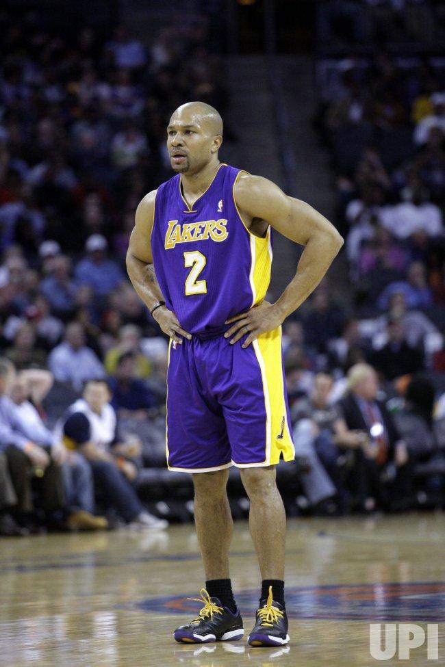 Los Angeles Lakers guard Derek Fisher