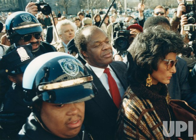 DC Mayor Marion Barry and wife Effie arrive at U.S. District Court to face drug charges