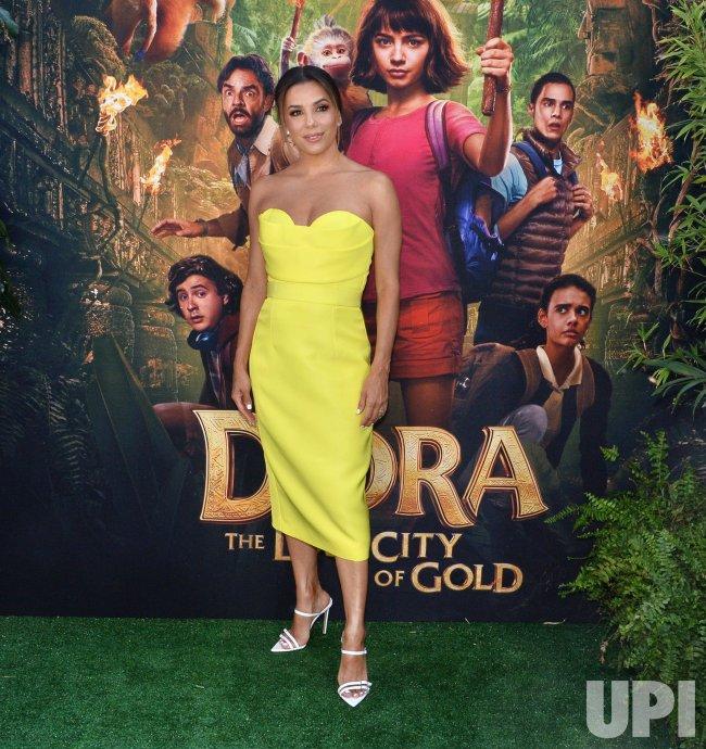 """Eva Longoria attends the """"Dora"""" premiere in Los Angeles"""