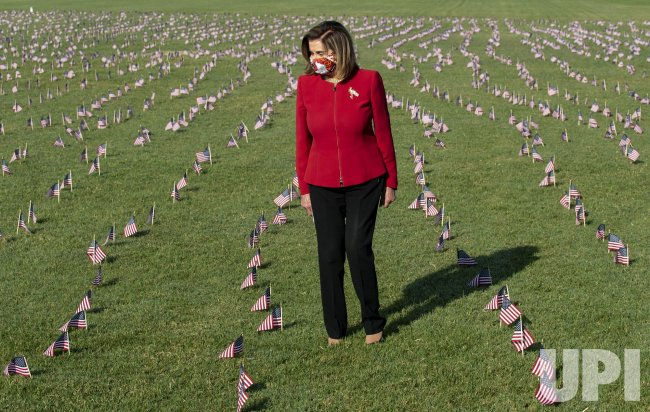 House Speaker Pelosi Places an American Flag on the National Mall to Honor 200,000 Coronavirus Victims