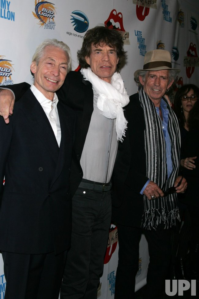 "Charlie Watts, Mick Jagger and Keith Richards arrive for the ""Stones in Exile"" Special Screening in New York"