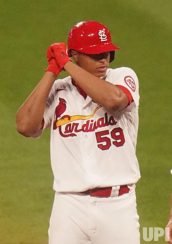St. Louis Cardinals Starting Pitcher Johan Oviedo Hits RBI Single